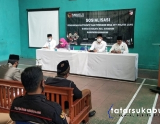 Masyarakat Desa Sukajaya Sepakat Tolak Money Politic Pilkada Sukabumi 2020