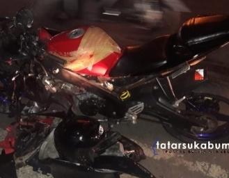 Tabrakan Yamaha R15 dengan Toyota Agya Didepan SPBU Ciaul Sukabumi