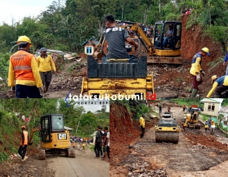 Inilah Kendala Perbaikan Jalan Rusak Dampak Pergerakan Tanah di Nyalindung Sukabumi