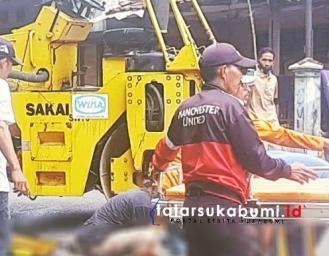 Alat Berat Stum Tergelincir Saat Diturunkan Dari Truk Pengangkut di Sukabumi Operator Meninggal Dunia