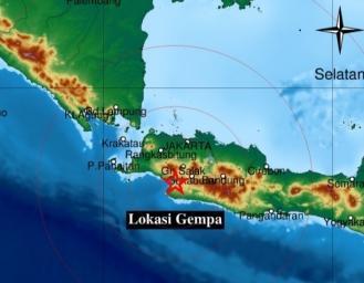 Gempa Terkini Sukabumi, BMKG : Dipicu Aktivitas Patahan Cimandiri