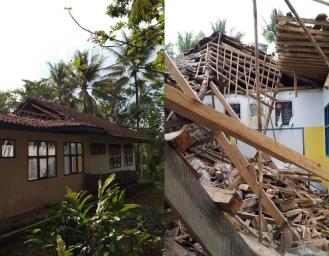 Gempa Bumi Selatan Sukabumi, Membuat Ambruk Atap Kelas SD Negeri Talagamurni Cimahpar Kalibunder Sukabumi