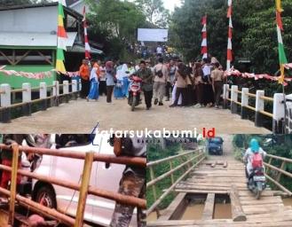 Penampakan Terkini Jembatan Penghubung Jampangtengah - Purabaya
