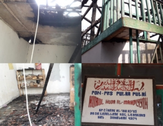 Kebakaran Ponpes Nurul Huda Almahdiyin Lengkong