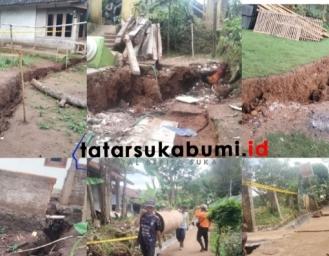 Ratusan Rumah Terancam Pergerakan Tanah di Wilayah Sesar Cimandiri Nyalindung Sukabumi