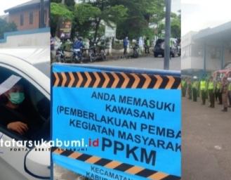 Penjagaan Ketat Akses Masuk Sukabumi 332 Kendaraan dari Arah Bogor Jakarta Cianjur dan Bandung Putar Balik