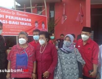 PDI Perjuangan Kabupaten Sukabumi Berbagi di Bulan Ramadan 1442 Hijriah