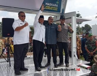 Pemberian Maskara di Sukabumi, UU Ruzhanul Ulum : Manusia Tanpa Hiburan Kurang Sempurna