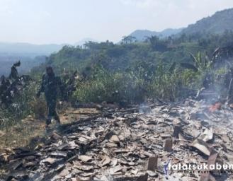 Lebaran Idul Adha Rumah di Nyalindung Sukabumi Terbakar