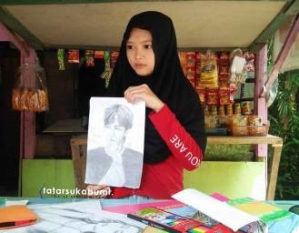 Gadis Cantik Penjual Kopi Pelukis Sketsa Kidal Asal Sukabumi Nasibnya Kini