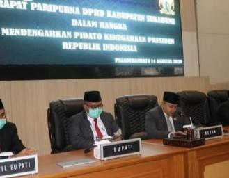Paripurna DPRD Kabupaten Sukabumi, Marwan Hamami Perbolehkan Masyarakat Meriahkan HUT RI