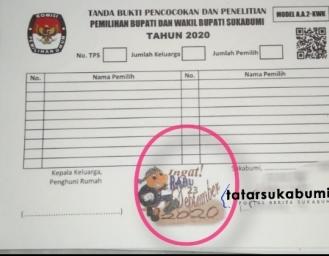 Ada Apa Dengan Tanda Bukti Coklit Pemilihan Bupati Sukabumi yang Dikeluarkan KPU