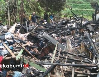Rumah di Kalibunder Sukabumi Ludes Terbakar