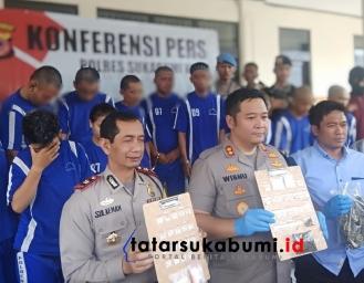 Wanita Kurir Sabu Ditangkap Polresta Sukabumi Bersama 19 Tersangka Kasus Narkoba Lainnya