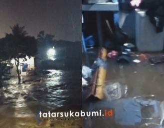 Banjir di Cicurug Sukabumi Rumah Warga Terendam