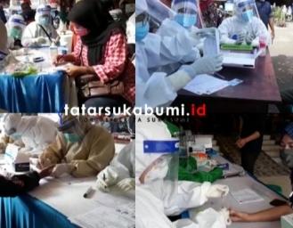 Rapid Test 8 Pasar Sukabumi Hasil Reaktif Siap-siap Jalani VCR
