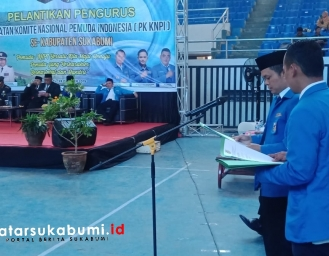 45 PK KNPI Kabupaten Sukabumi di Lantik Bertepatan Hari Sumpah Pemuda