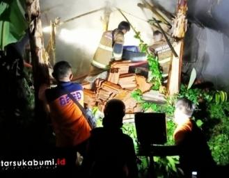 Kebakaran di Sudajaya Hilir Baros Sukabumi