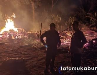 Rumah Warga Mekarsari Sukabumi Terbakar