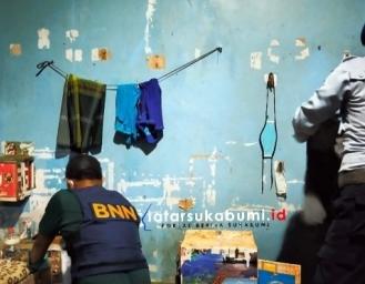 BNNK Sukabumi Razia Peredaran Narkoba di Lapas Warungkiara