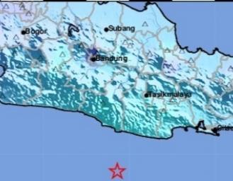 Gempa Terkini 5.9 SR di Pulau Jawa