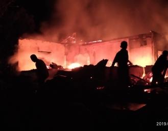 Rumah Janda Lansia di Jampang Tengah Dilalap Api