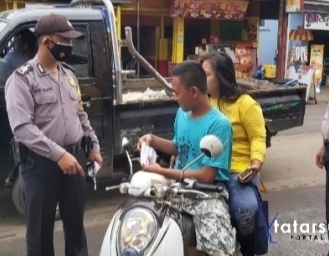 Operasi Yustisi Polsek Gunungguruh di Kawasan Pasar Pangleseran