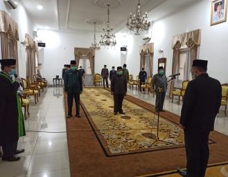 Izin Kemendagri Pemkab Sukabumi Lantik 3 Pejabat Sesuai Protokol Kesehatan