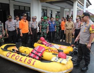 Potensi Bencana Sukabumi Tinggi, Tim Gabungan Polres Sukabumi Kota Siaga