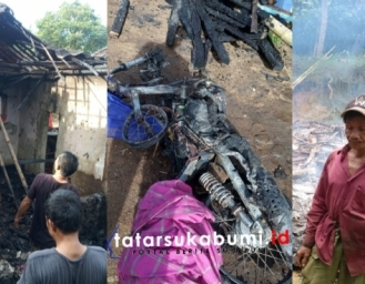 Kebakaran di Sukabumi Rumah Motor dan Uang Tunai 11 Juta Rupiah Ludes Terbakar
