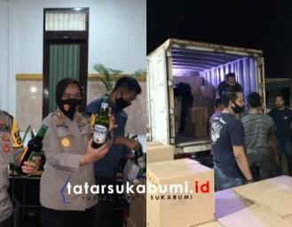 Polisi RW Polres Sukabumi Kota Sukses Sita 2466 Botol Barang Haram Miras