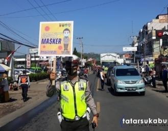 Tidak Memakai Masker di Cibadak Pemerintah Kecamatan Beri Sanksi Tipiring