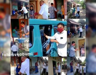 Wajib Pakai Masker! BLK Kabupaten Sukabumi Bagikan Ribuan Masker Gratis