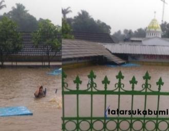 Banjir Terjang Rumah Makan Tahu Sumedang Jalur Lingkar Selatan Sukabumi