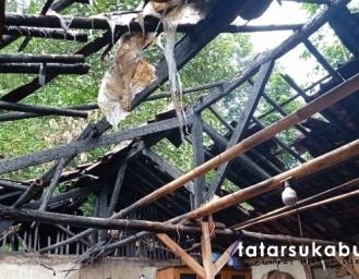 Usai Goreng Pisang Rumah di Cidahu Sukabumi Terbakar