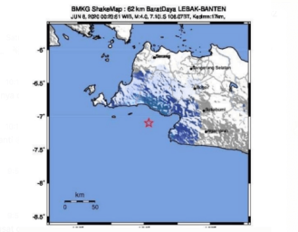 Gempabumi Magnitudo 4 di Wilayah Laut Lebak Banten, Dirasakan Warga Selatan Sukabumi