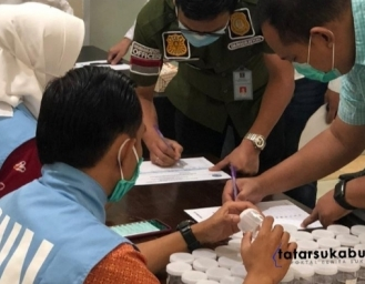 BNNK Sukabumi P4GN dan Test Urine Imigrasi Kelas II Sukabumi
