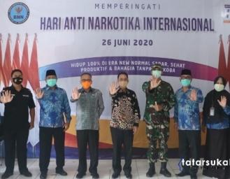 Seremonial Peringatan HANI 2020 BNNK Sukabumi Dilaksanakan Secara Virtual
