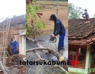 Puting Beliung Terjang Cimanggu 14 Rumah Rusak 3 Pohon Tumbang dan Putus Aliran Listrik