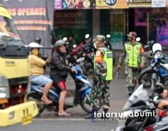Operasi Yustisi TNI di Jalan Otista Sukabumi