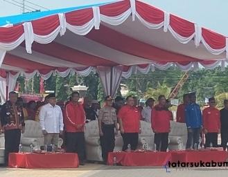 HUT 47 PDI Perjuangan Rapatkan Barisan Merahkan Palabuhanratu Jelang Pilkada Sukabumi