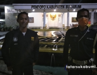 Gedung Pendopo Sukabumi Gelap Gulita Peringati Earth Our