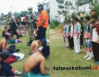 Bocah Alay Konvoi Lulus Sekolah Diperbatasan Sukabumi Bogor Dibubarkan Polisi