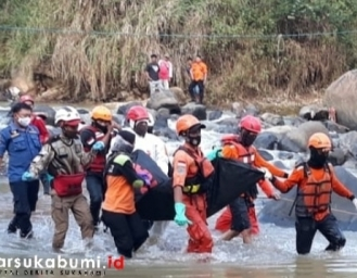 3 Hari Dinyatakan Hilang Jenazah Santri Al Amin Cicurug Ditemukan di Sungai Cicatih