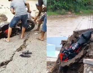 Parkiran Amblas di Objek Wisata Mekarasih Sukabumi N-Max dan CBR Nyaris Jadi Korban