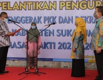 Pelantikan Pengurus TP PKK dan Dekranasda Kabupaten Sukabumi