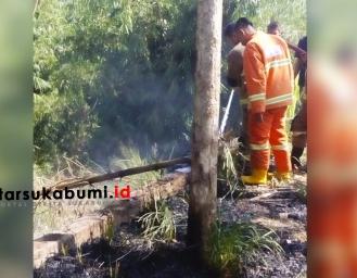 Kebakaran Lahan di Cikole Kota Sukabumi