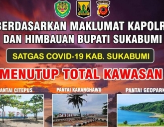 TNI Polri Lakukan Penyekatan Akses Masuk Sukabumi dan Penutupan Kawasan Wisata di Malam Tahun Baru
