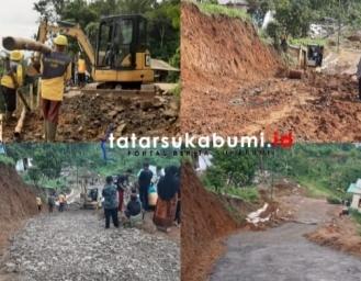 Kendaraan Dihimbau Cari Jalan Alternatif, Jalan Curam Membahayakan di Ruas Jalan Sukabumi - Sagaranten Sedang Perbaikan