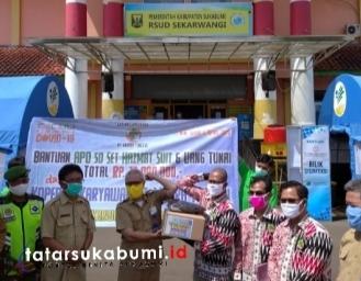 Kondisi Alat Perlindungan Diri RSUD Sekarwangi, Kopkar PT Muara Tunggal Sumbang APD Covid-19